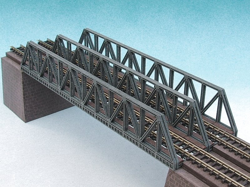 Beam Bridge Construction Materials : Luetke modellbahn lattice girder bridge with tracks